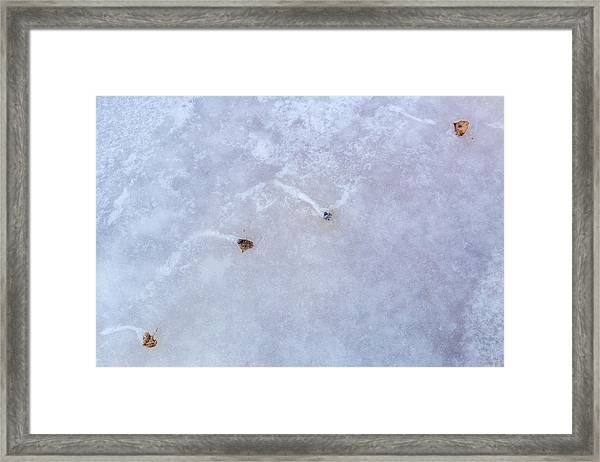 Moving Through Ice Framed Print