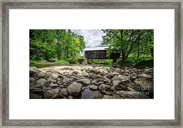 Moxley Covered Bridge Chelsea Vermont Framed Print