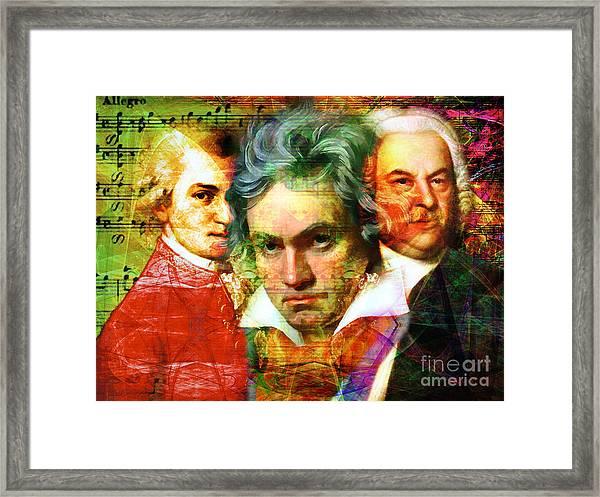 Mozart Beethoven Bach 20140128 Framed Print