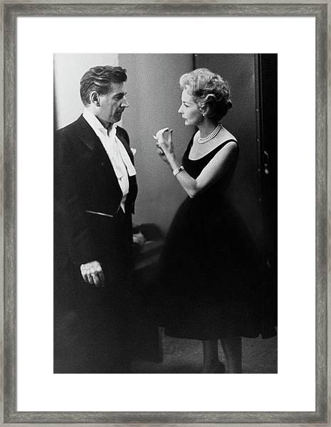 Mr. And Mrs. Leonard Bernstein Framed Print by Henry Clarke