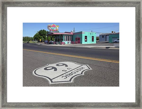 Mr. Ds Diner Route 66 Framed Print