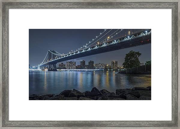 Mr Manhattan  Framed Print