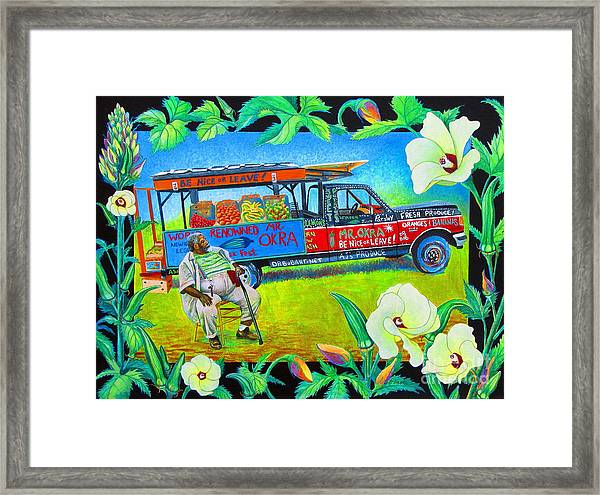 Mr Okra Framed Print