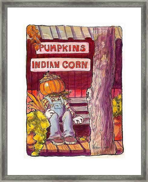 Mr. Pumpkin Framed Print