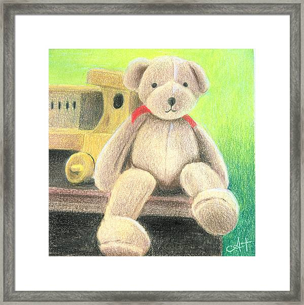 Mr Teddy Framed Print