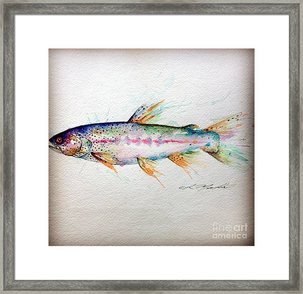 Mr Trout Framed Print