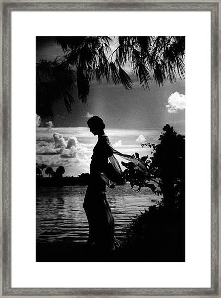 Mrs Allan A Ryan Jr At Palm Beach Framed Print