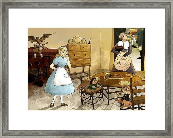 Mrs. Gage's Kitchen Framed Print