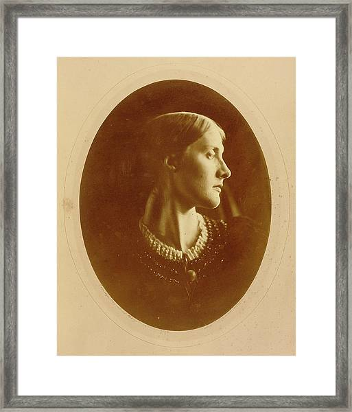 Mrs. Herbert Duckworth Julia Margaret Cameron Framed Print