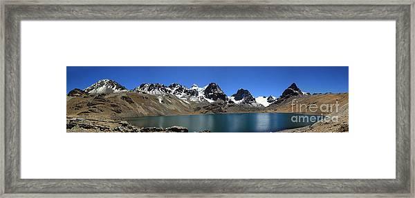 Mt Condoriri Panorama Framed Print