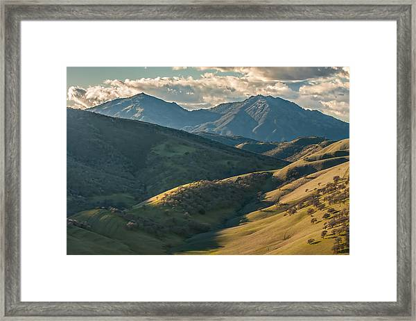 Mt Diablo And Afternoon Shadows Framed Print