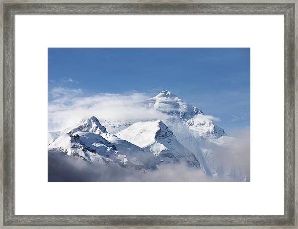 Mt Everest, From Mt Everest Base Camp Framed Print