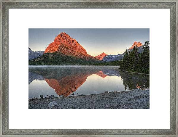 Mt. Grinnell Sunrise Framed Print