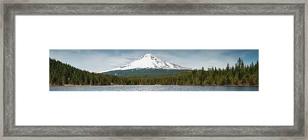 Mt Hood 3429m Volcano Towering Over Framed Print