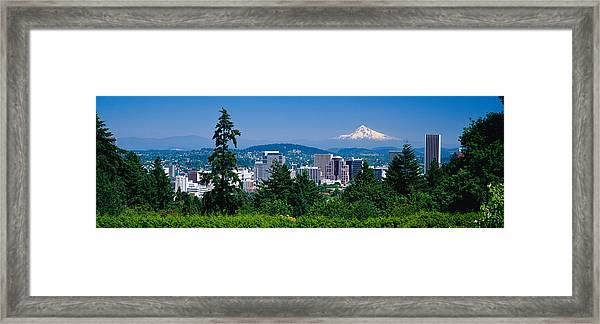 Mt Hood Portland Oregon Usa Framed Print