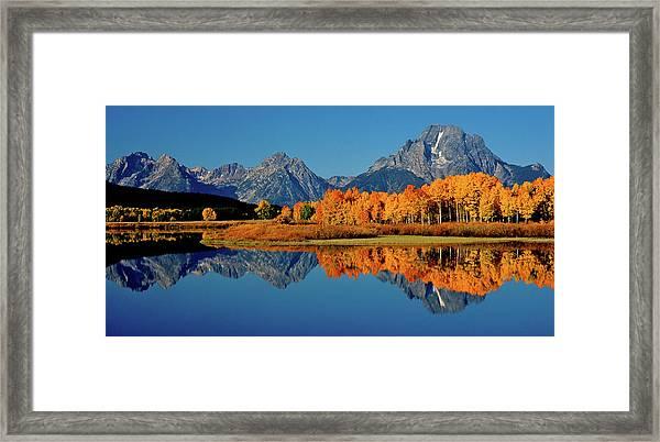 Mt. Moran Reflection Framed Print