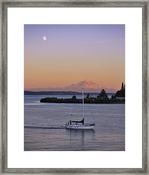 Mt. Rainier Afterglow Framed Print