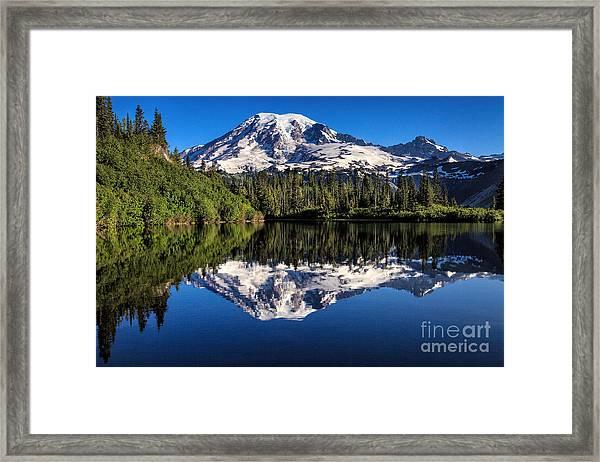 Mt. Rainier From Bench Lake Framed Print