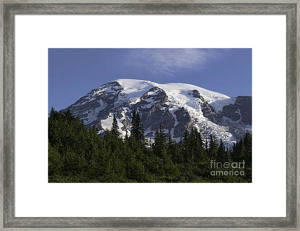 Mt Rainier Landscape Framed Print