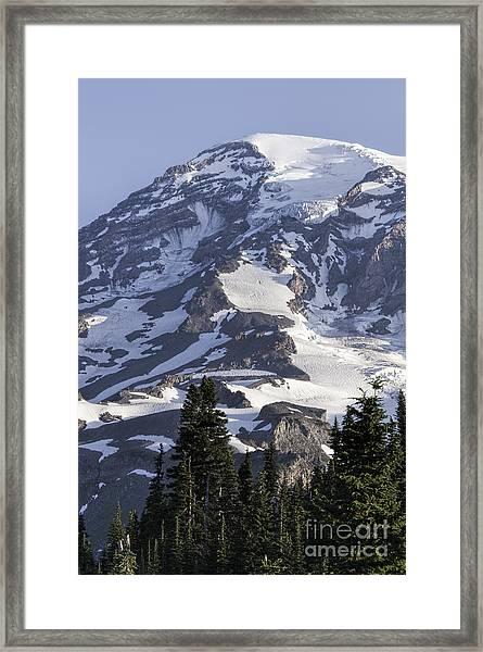 Mt Rainier Portrait Framed Print