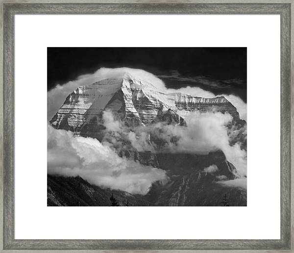 102496-mt. Robson Wreathed In Clouds Framed Print