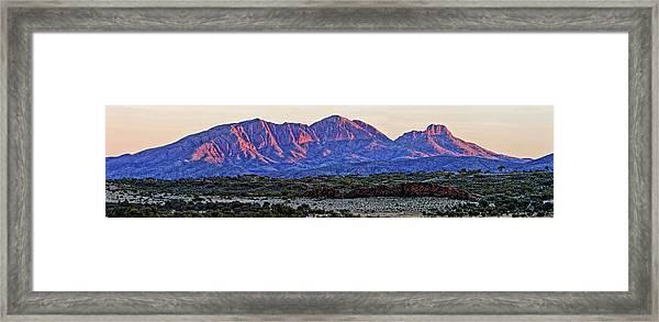 Mt Sonder Sunrise Framed Print