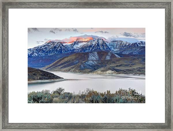 Mt. Timpanogos Winter Sunrise Framed Print