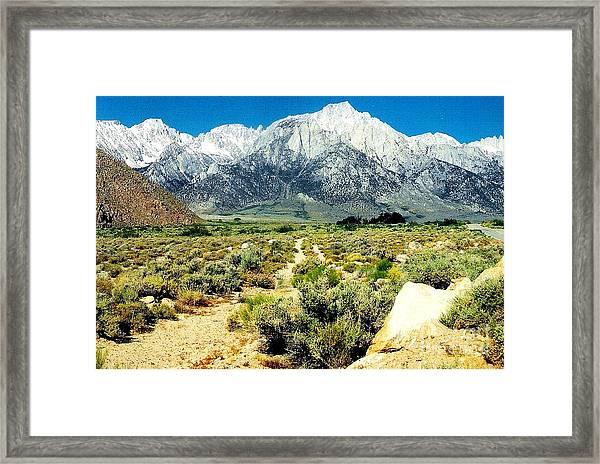 Mt Whitney Framed Print