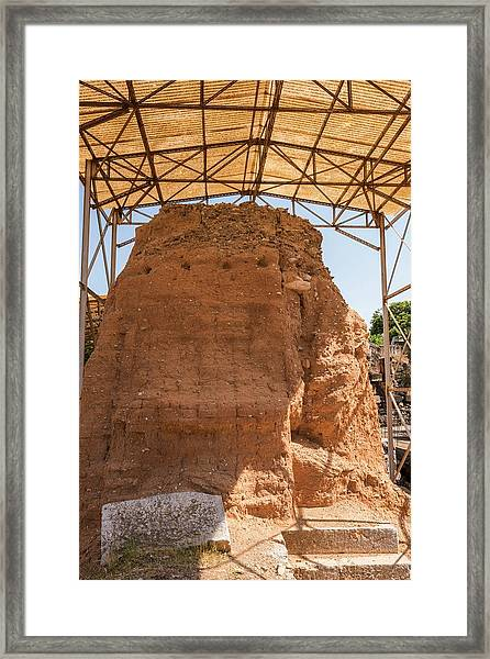 Mud-brick Wall Protection Framed Print by David Parker/science Photo Library