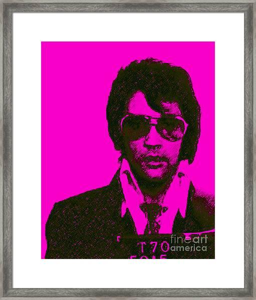 Mugshot Elvis Presley M80 Framed Print