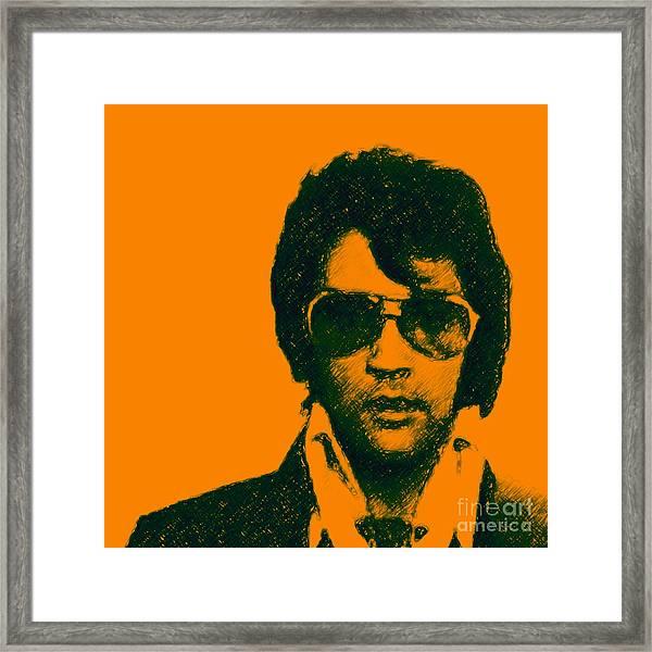 Mugshot Elvis Presley Square Framed Print