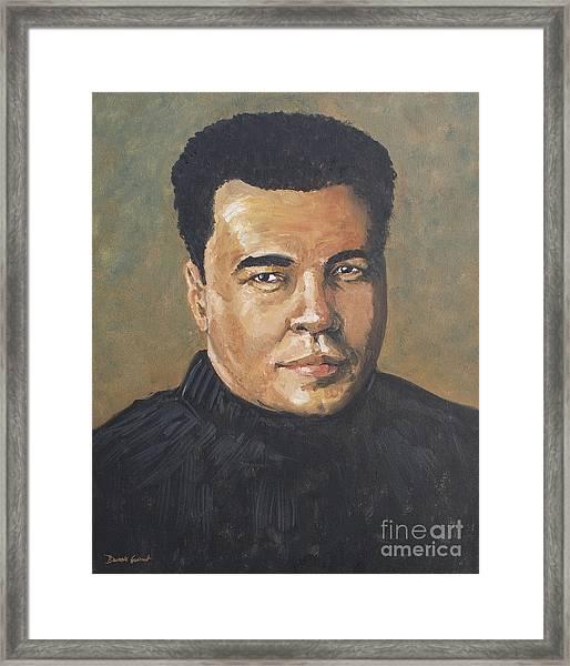 Muhammad Ali/the Greatest Framed Print
