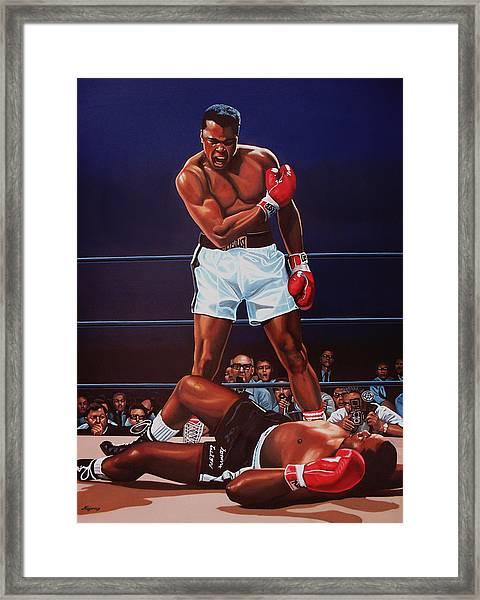 Muhammad Ali Versus Sonny Liston Framed Print