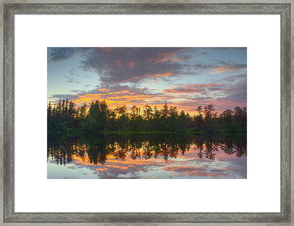 Mullica River Sunset Framed Print