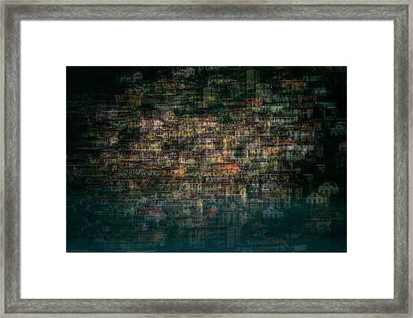 Multi House Framed Print