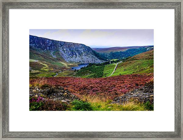 Multicolored Carpet Of Wicklow Hills. Ireland Framed Print
