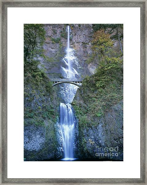 Multnomah Falls Columbia River Gorge Framed Print