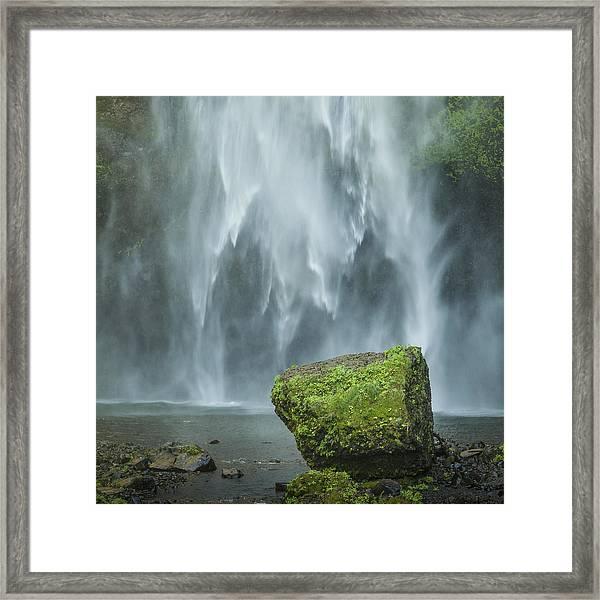 Multnomah Rock Framed Print