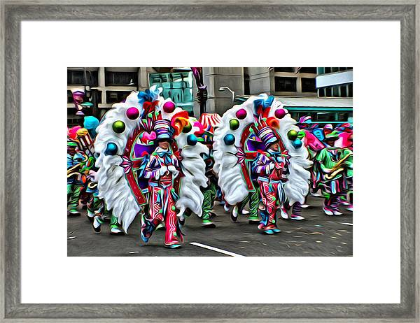 Mummer Color Framed Print