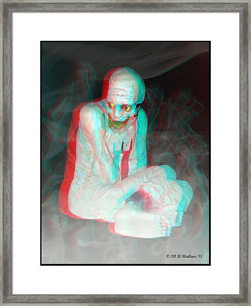 Mummy Dearest - Use Red-cyan Filtered 3d Glasses Framed Print