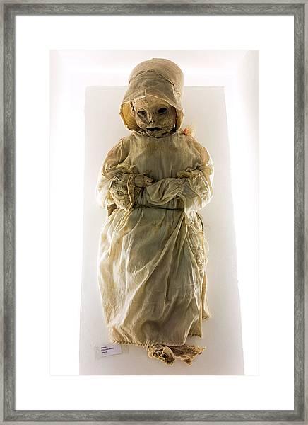 Mummy Museum Framed Print