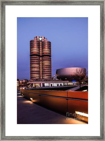 munich - BMW office - vintage Framed Print
