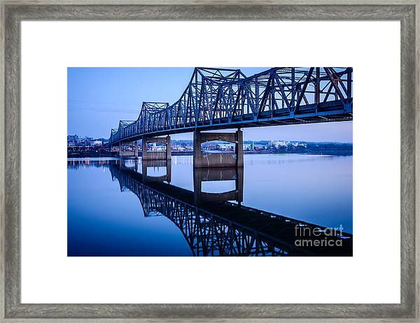 Murray Baker Bridge In Peoria Illinois Framed Print