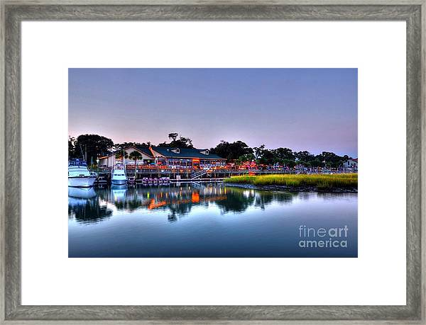Framed Print featuring the photograph Murrells Inlet Evening by Mel Steinhauer