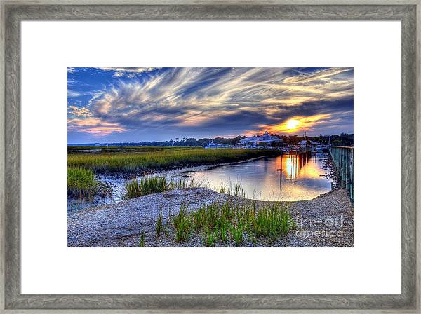 Framed Print featuring the photograph Murrells Inlet Sunset 4 by Mel Steinhauer