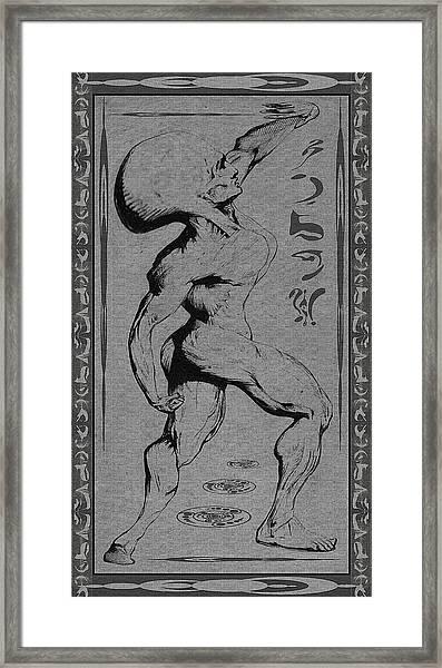Musculosa Alienum Framed Print