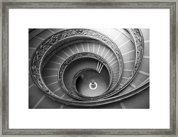 Musei Vaticani Stairs Framed Print