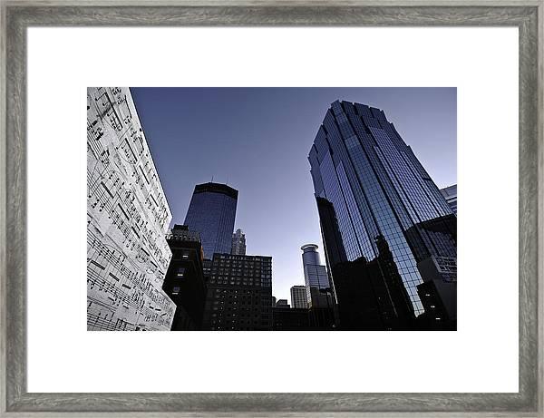 Music In The City Framed Print