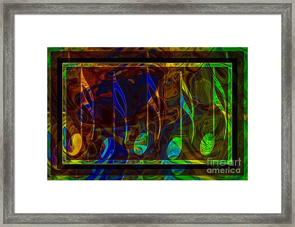 Music Is Magical Abstract Healing Art Framed Print
