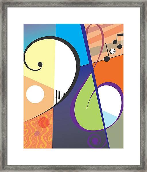 Musica Framed Print